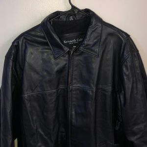 XL Kenneth Cole leather jacket new without tags
